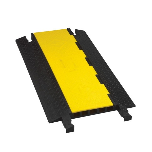 """Checkers 36"""" Cable Crossover 5-Way Protector - Yellow/Black"""