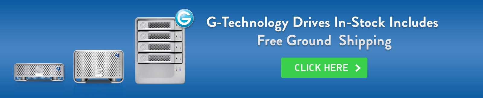 G-Tech Free Ground Shipping