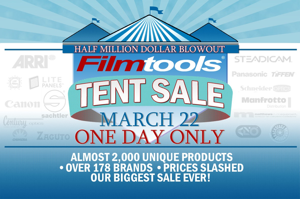 Filmtools Tent Sale March 22, 2014