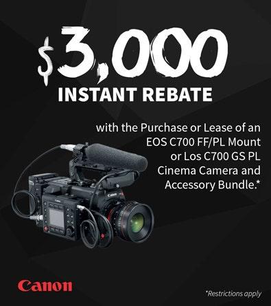 Canon C700 Rebate